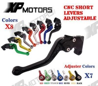 CNC Short Adjustable Brake Clutch Levers For Kawasaki Z750 (Not for Z750S) 2007-2012