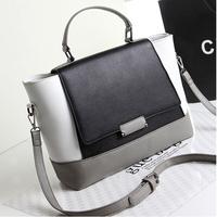 Hot Sale Fashion Famous Brand 2014 Women Leather Handbag Big Bat Shoulder Bag Tote Reto Bucket Women Messenger Bags
