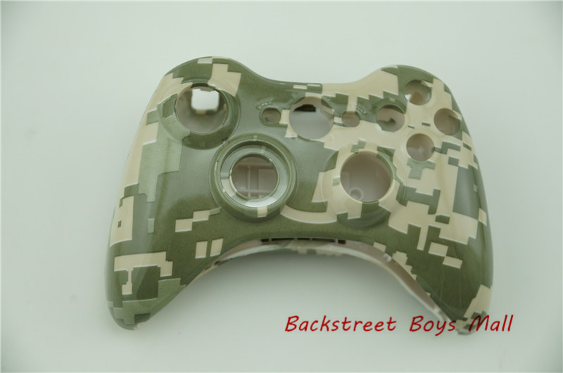 Custom Replacement Housing Shell Urban Army Camo Front shell Back shell Battery shell for Microsoft Xbox 360 Wireless Controller(China (Mainland))