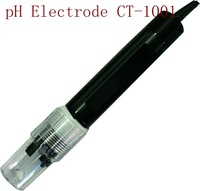 Freeshipping CT-1001pH Electrode 0-80C PH range:0-14 High accuracy PH electrode ( ph sensor)for PTFE liquid interface, clogging