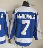 cheap stitched ice hockey jersey  Toronto hockey jersey  #7 Lanny McDonald  men's ice hockey jersey/ shirt