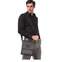 New arrival fashion man leather shoulder bags, Hot sale brown color men's bags 2014, high quality business briefcase men