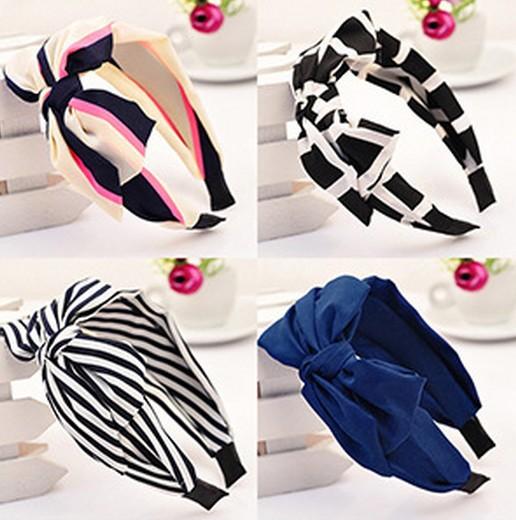 New 2015 New Lady Girl Cute Sweet Big Bowknot Ribbon Hair Accessories Headband Bow(China (Mainland))