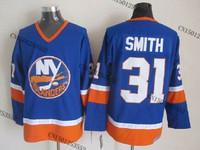 cheap stitched ice hockey jersey  New York Islanders #31 Billy Smith  men's ice hockey jersey/ shirt