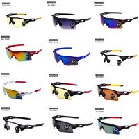 2PCS/Lot 12 Color Men and Women Colorful Sport Sunglasses Oak Riding Glasses Outdoor Sport Parkour Trend Goggles cycling Eyewear