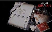 new arrival fashion men leather messenger bag, Brown color men's shoulder bags 2014, high quality brand design business bag