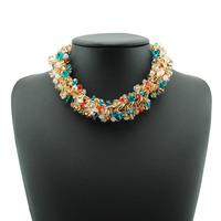 2014 New Fashion Chain Choker Shourouk Vintage Rhinestone Alloy Rhinestone Statement Necklaces & Pendants Women Jewelry Seta