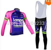 Free Shipping!2014 men's bianchi lampre merida cycling jerseys and bib pants/cycling wears/cycling clothes/Size:XXS-XXXXL