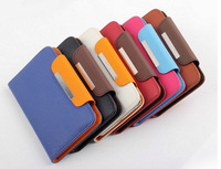 Free shipping 5 inch  Leather Case Suitable For Lenovo A536 Pouch Case Cover Bifold Card Holder Wallet 6 Colors