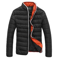 2014 Men's Colorant Match Brief Thermal Wadded Jacket Thickening Cotton-padded Jacket Winter Slim Jacket