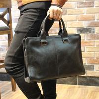 Stylish men briefcase 2014 fashion vintage office bag designer handbags high quality solid pu leather elegant men messenger bags