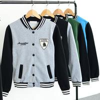 Autumn and Winter Varsity Jacket Long Sleeve Baseball jacket Coat Sportwear For women S-XL