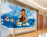 Ice Age 3d children wallpaper roll fresco papel de parede  tapete infantil wall wallpaper  background homedecoration