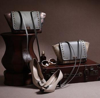 Бесплатная доставка модные женская сумка мешок кожаная сумка