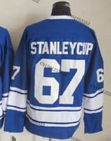 cheap stitched ice hockey jersey  Toronto hockey jersey  #67 Stanleycup  men's ice hockey jersey/ shirt