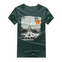 2014 printed cotton round neck short sleeve T shirt Men's T shirt wholesale authentic men's T shirt