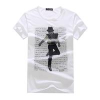 2014 latest best-selling men's short-sleeved T shirt wholesale fashion cotton round neck short sleeve T-shirt