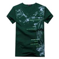 2014 Brand New Men's T-Shirt Men's V-neck short-sleeved T shirt personalized fashion T shirt