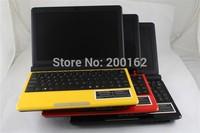cheap notebook mini 10 inch laptops netbook Win7/WinXP Intel atom D2500 1.86Ghz 4G/500GB WIFI camera Pre installed WIN7 2200mAH
