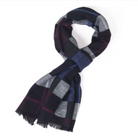 New Men's Scarf Cotton Cashmere Knitting Color Stripe Man Casual Daily Warm Shawl Wrap winter Autumn 7 color Scarf