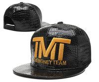 New The Money Team Snapback Caps leather classic men womens adjustable baseball hats skin Brim Hip-hop Street caps for summer