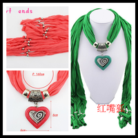 Free shipping Retail Hot Selling Fashion Design New5 Colors Women/Lady's Jewelry Scarf Necklace Cotton Scarves Pendant Scarves