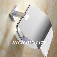 high quality brass copper toilet paper holder with lid bathroom accessories porta papel para banheiro suporte papel higienico
