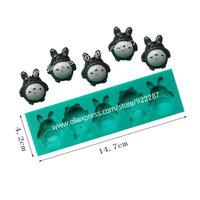 My Neighbor Totoro candy bar formas de silicone ferramentas fondant cake decorating tools chocolate styling free shipping