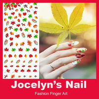 High Quantity 1Sheet Water Transfer Leaf Designs Nail Art Decals Stickers Decoration