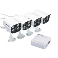 Escam Super Mini 4CH NVR Kit 1pcs 1080P 4CH NVR(K104) + 4pcs 720P IP IR Bullet Network Camera(QD300)