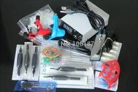 New Arrival Tattoo Kit 2Pcs Mixed Color  Rotary Tatoo Gun Machine with Grip Needles Tattoo Kits For Beginners