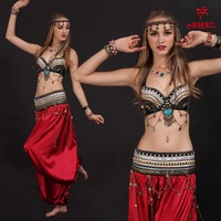 100% Handmade Super Quality Tribal style Sexy Belly Dance Performance Costume Free shipping