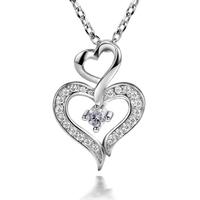 LB-0101,925 silver-plated jewelry joyas joyeria bijouterie Colgante Collar with zircon or crystal nickel free