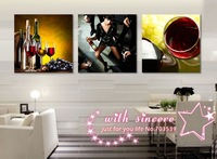 Wall Decor No Frame 3 Piece Such Excited Mood As Best Feeling So Happy Wall Art Picture Canvas Painting Home Decor,Free Shipping