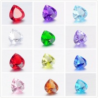 120pcs/lot Free Shipping Diy Acrylic Resin Heart Birthstone Floating Charms Fit Origami Owl Memory Living Locket