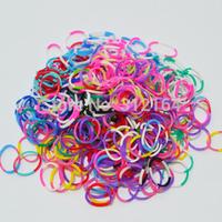 300 PCS Rubber Bands Loom Set Multy Colors DIY Bracelet Anklet Candy Colorful Loom Bands Opp Bag BOS.L13