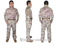 EMERSON Riot Style CAMO Airsoft Uniform Set combat uniform Combat Shirt & Pants a-tacs EM6894A AT