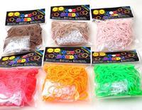 2014 Limited Wholesale - Colorful Loom Kit Rubber Bands Bracelet for Children Single Colors Handmade Diy 300pcs Bands+12 S Clips
