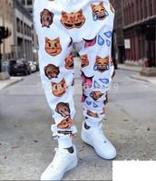 free shipping 2014 new fashion emoji joggers for men and women jogger pants cool sweatpants