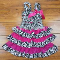 New ArrivAI Summer Roupas Infantil Menina Party Dress Baby Vestido Princesa Black And Red Lovely Novelty Dress Free Shipping