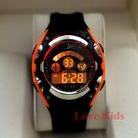 Sport's Black Color Men Women Boy Sport Digital Dive AL 7 color BackLight  Soft Rubber Strap Wrist Watches Watch New