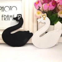 Cartoon buiter patch clothes pants decorative decal Back rubber patch to fill holes With gold and white swan