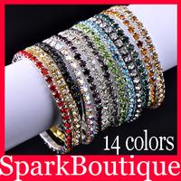 New Arrival Fashion Girls Crystal CZ Bracelet Auden Rhinestone Charm Rainbow Bracelet - SKBTQ