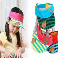 Korean summer children hat bear empty top hat male and female baby sun hat sun hat
