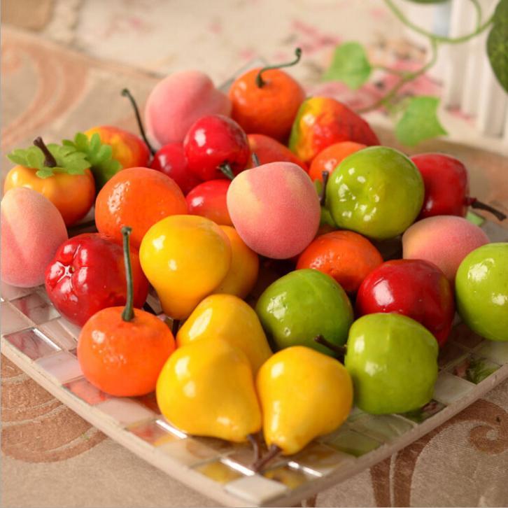 New 2015 10PCS Artificial Decorative Plastic Fruit Home Decor Garden House Kitchen(China (Mainland))
