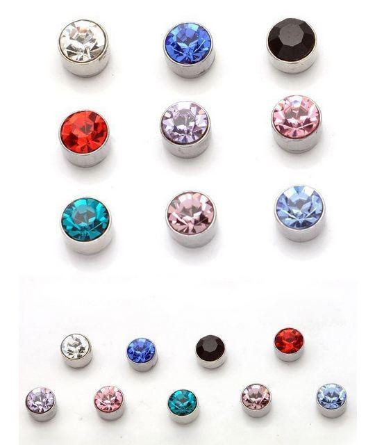 New 2015 2 Pcs Women Men Magnetic Magnet Ear Stud Earrings Clip On No Ear Hole Gift(China (Mainland))