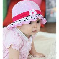 Korean version of the spring and autumn girl baby basin hat children's Hat Visor Beanie sun hat