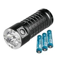 Olight SR MINI 2800 Lumens 3*18650 LED Flashlight with SS Bezel+3*186P3400mAh