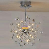 Modern European Crystal Chandelier Modern Crystal Lamps Aisle High Power lights Lamp Light Lighting firework ball