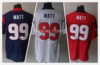 Wholesale Free shipping men elite jerseys jj watt jersey#99 blue/red/white american football jersey Stitched Jersey mix order
